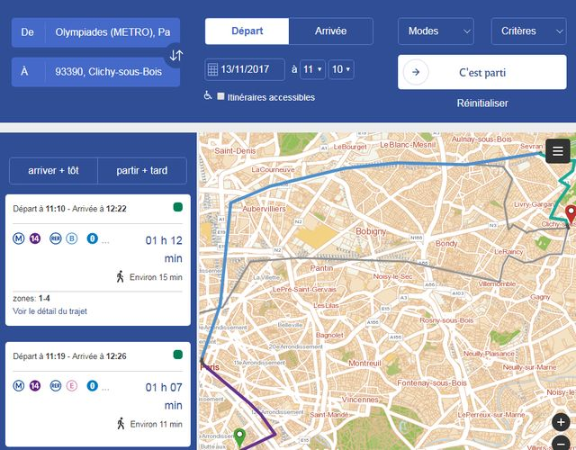 Pour aller de Clichy-sou-Bois au centre de Paris, il faut plus d'une heure.