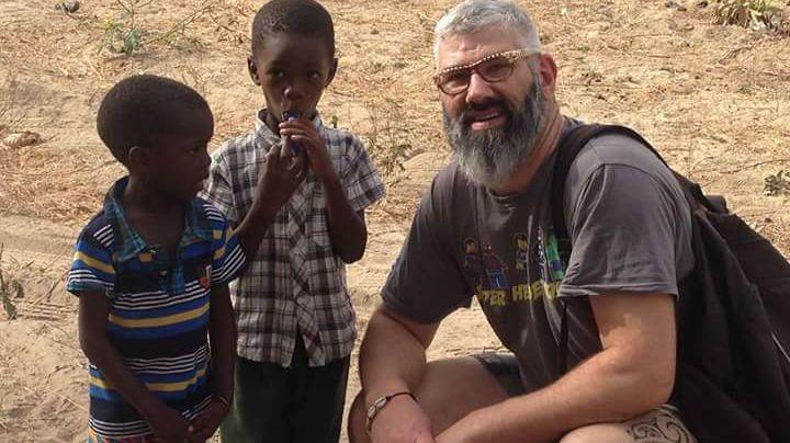 Cyril Charron lors de son précédent voyage au Sénégal