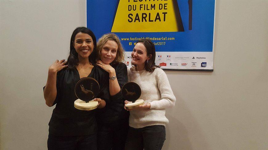 Zita Hanrot, Marie Garel-Weiss et Clémence Boisnard (de gauche à droite) avec leurs prix.