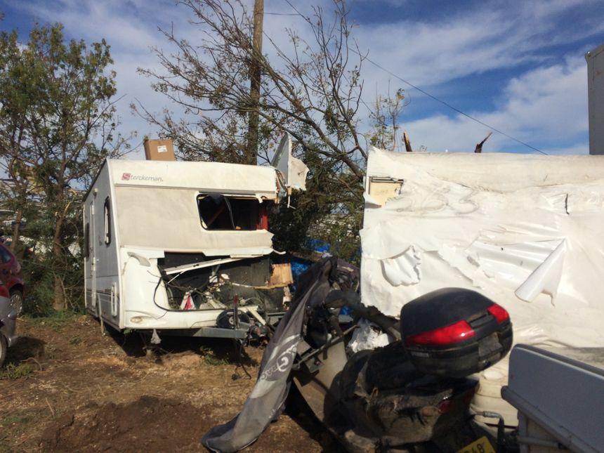 Le gardien du Parc Auto dormait dans sa caravane quand la tornade est passée