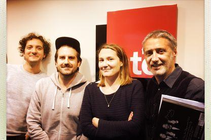 David Marsais et Grégoire Ludig, Charline Roux et Antoine de Caunes