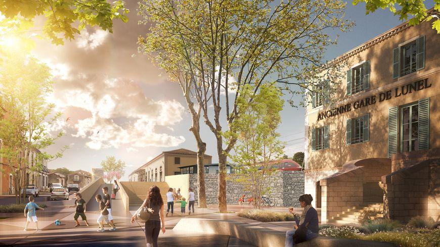 Le parvis devant la gare de Lunel sera totalement réaménagé.