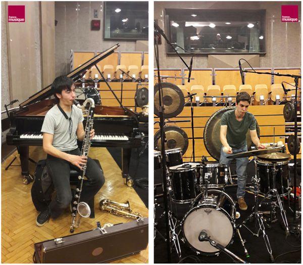 Antoni-Tri Hoang et Samuel Ber au studio 107