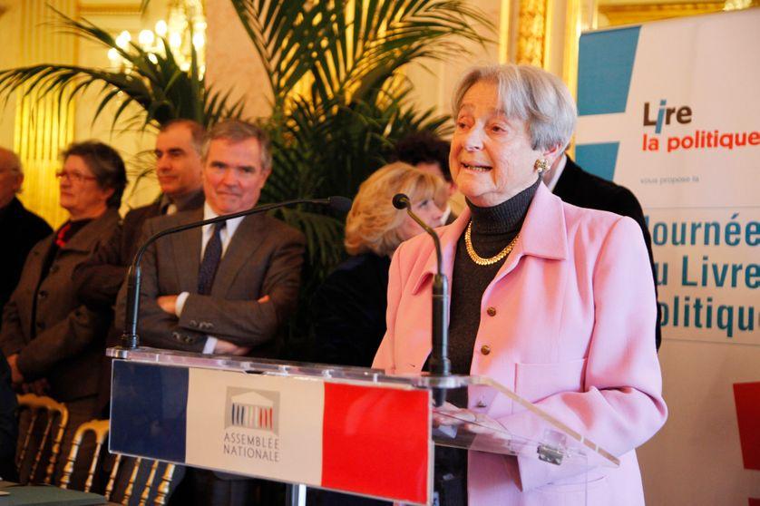 Dominique Schnapper présidant la Journée du livre politique, samedi 4 février 2012