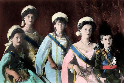 Les cinq enfants de Nicolas II, dernier tsar de Russie