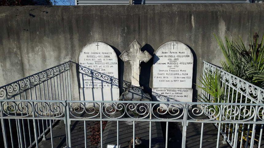 La tombe de la famille Russell-Killough à Pau