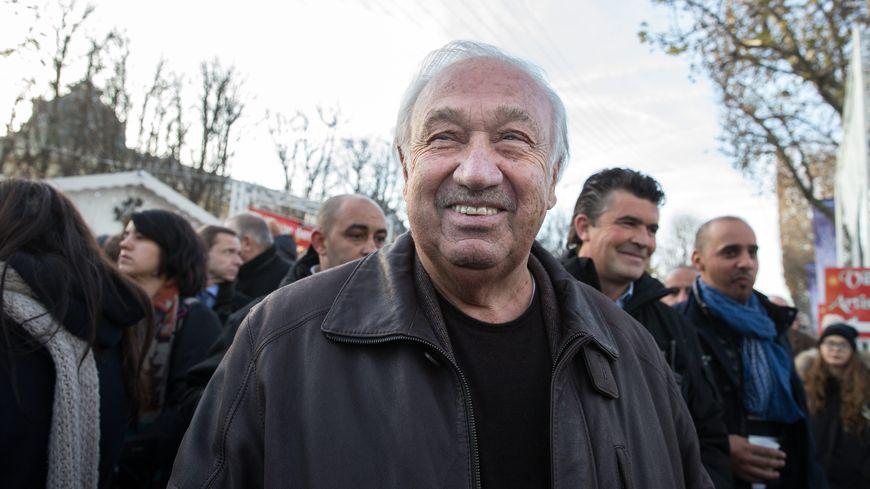 Le roi des forains, Marcel Campion, au marché de Noël à Paris en 2016.