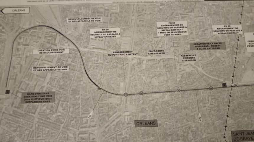 Le projet de ligne ferroviaire pour Orléans