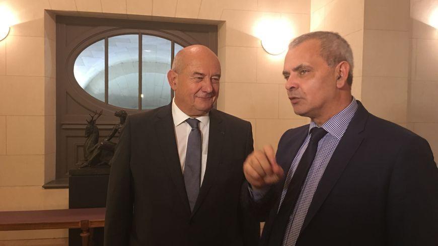 L'ancien et le nouveau maire de Tours