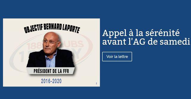 Site de campagne de Bernard Laporte, capture d'écran faite le 02/11/2017