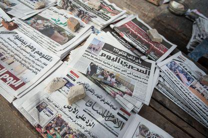 Unes de journaux en Egypte après l'attentat du 24 novembre 2017