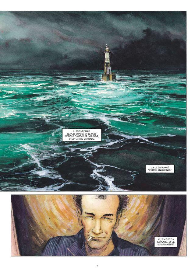 """Planche d'""""Ar Men"""" d'Emmanuel Lepage"""