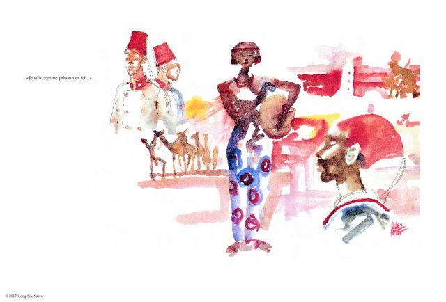 Voyages avec Rimbaud, Kipling, Baffo, illustré par Hugo Pratt