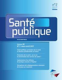 Santé publique n°2/29 mars-avril 2017