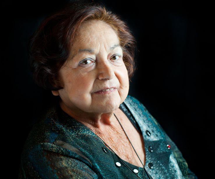 Portrait de l'anthropologue Francoise Heritier, décembre 2013