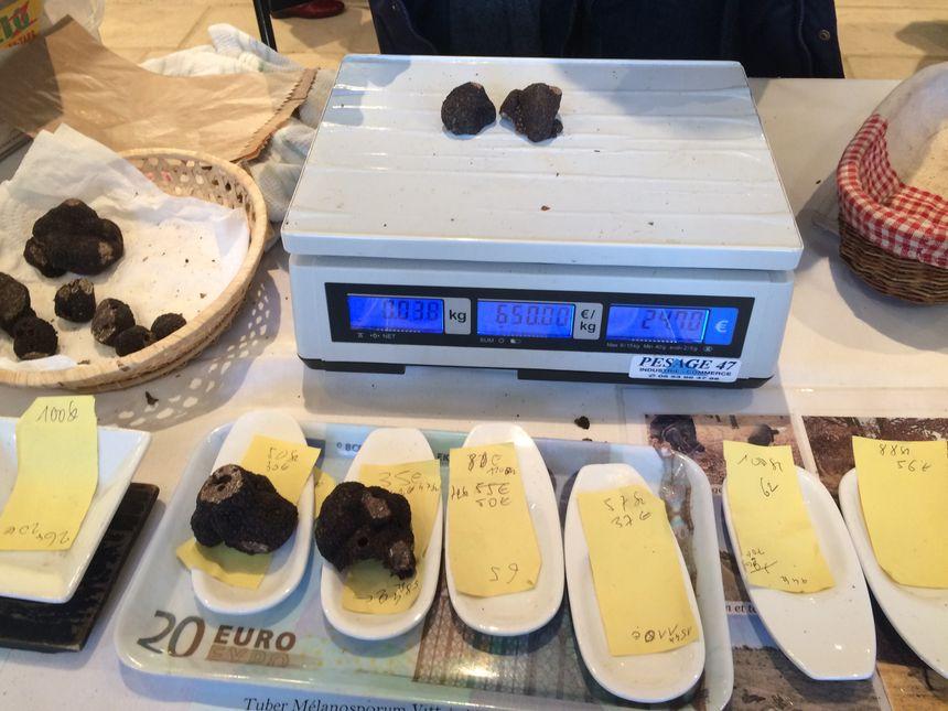 En moyenne, le prix des truffes au kilo tourne autour de 650 kg