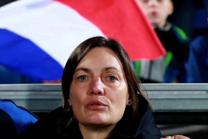 La sélectionneuse Corinne Diacre s'est dit satisfaite de l'affluence au stade Chaban Delmas.