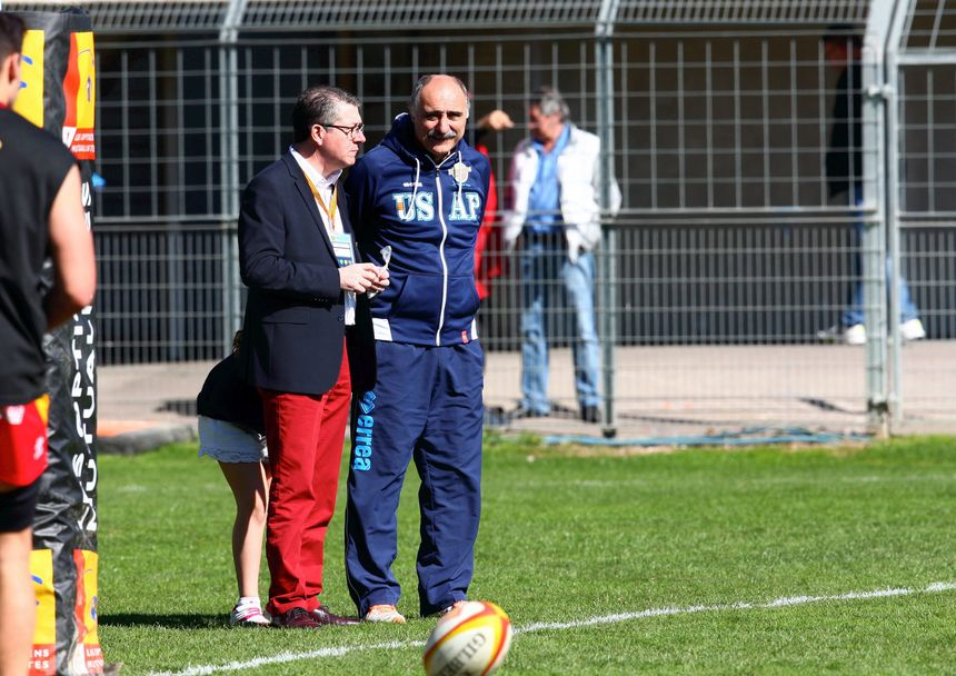 François Rivière et Christian Lanta - USAP -