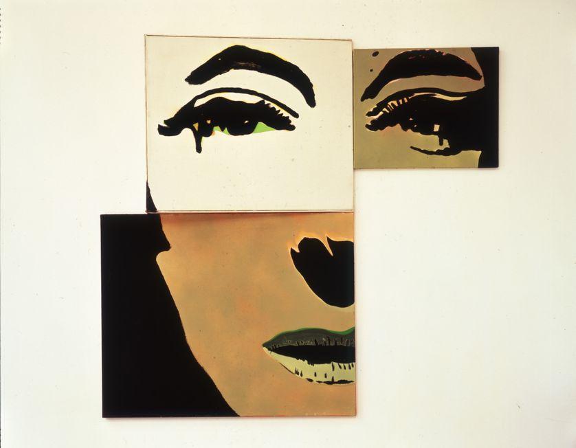 """""""Portrait à géometrie variable deuxième possibilité"""" de Martial Raysse, 1966"""