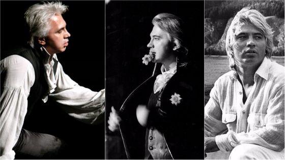 Sur scène (Oneguine et le Comte Almaviva), et à la ville, au début de sa carrière... Dmitri Hvorostovsky était l'un des très grands barytons de sa génération.