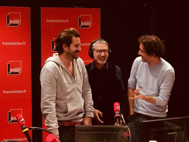 Les membres du Palmashow, avec Antoine De Caunes