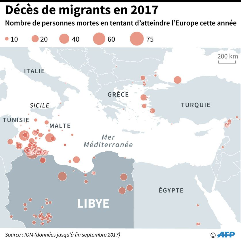 La voie centrale de la Méditerranée est l'une des plus mortelles pour les migrants qui tentent de rejoindre l'Europe