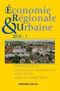 Revue d'économie régionale et urbaine n°1/16