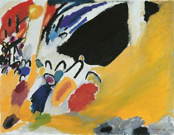 """Vassily Kandinsky : """"Impression III (Concert)"""", 1911, Huile sur toile, 77,5 x 100 cm Munich, Städtische Galerie im Lenbachhaus"""