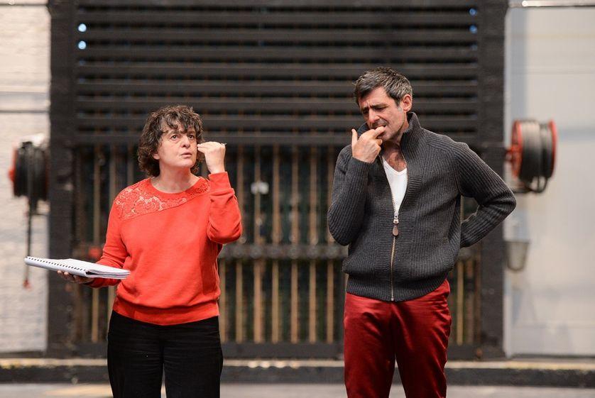 """Répétition """"Dom Juan"""" de Molière au théâtre de La Commune Aubervilliers, Marie-José Malis"""
