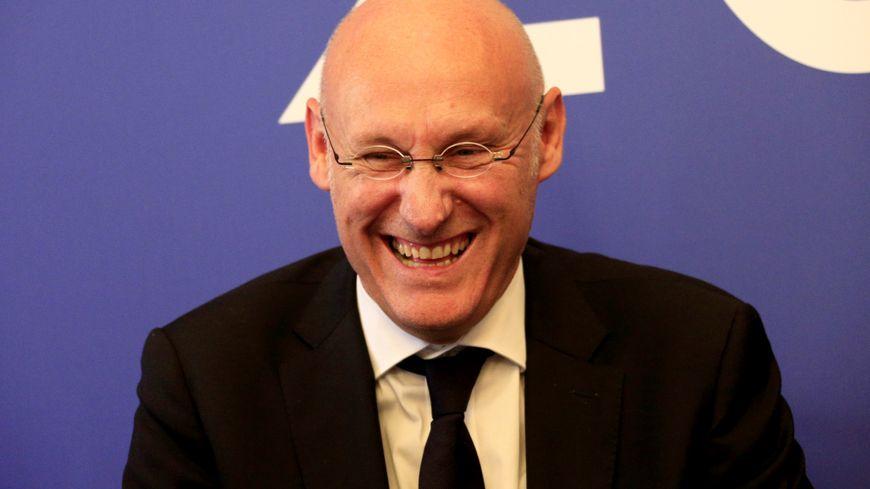 La France décroche l'organisation de la Coupe du monde de rugby 2023. Ici le président de la fédération française de rugby, Bernard Laporte
