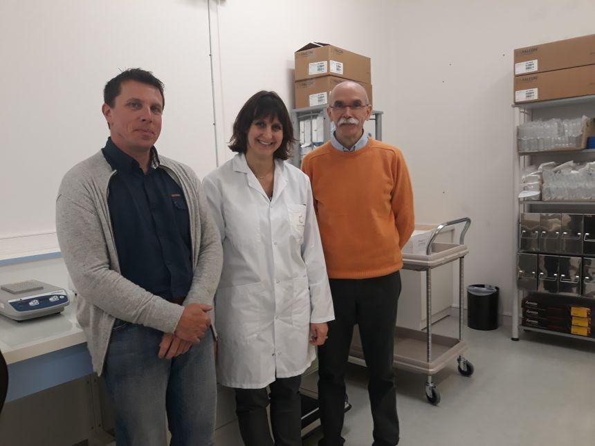 De gauche à droite: Vincent Carré, Corinne Besse et Christian Laurance, de Carcidiag