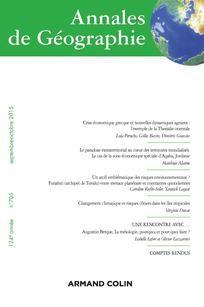 Annales de géographie n°705. Changement climatique et risques côtiers dans les îles tropicale