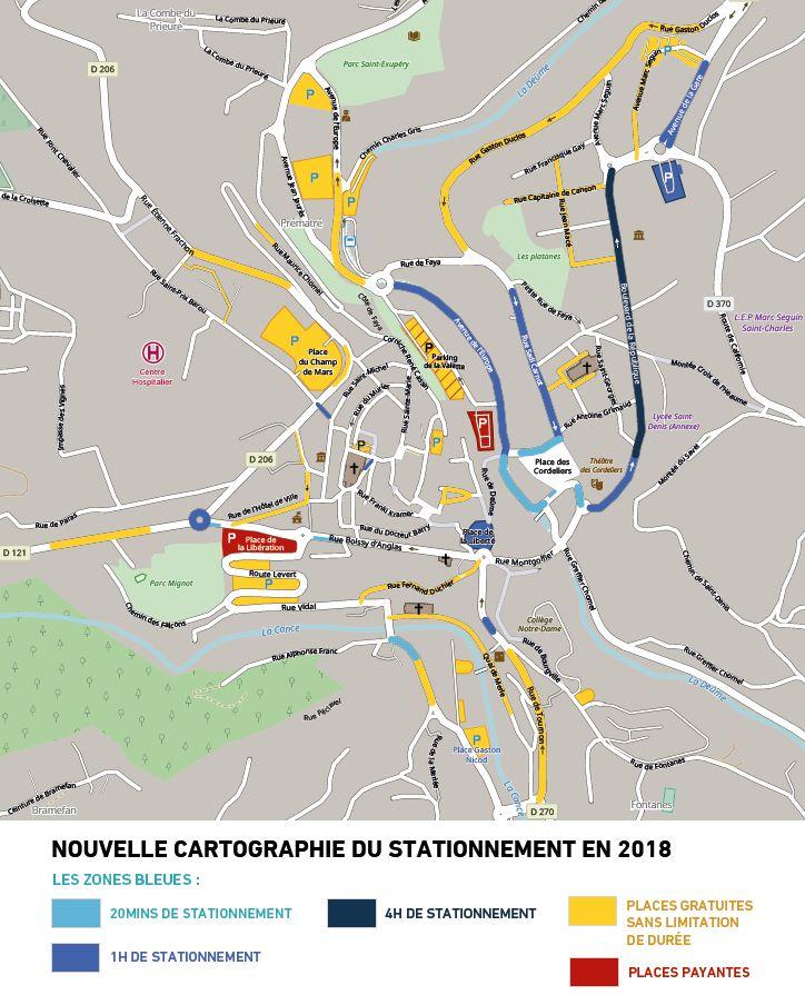 Le nouveau plan de stationnement d'Annonay