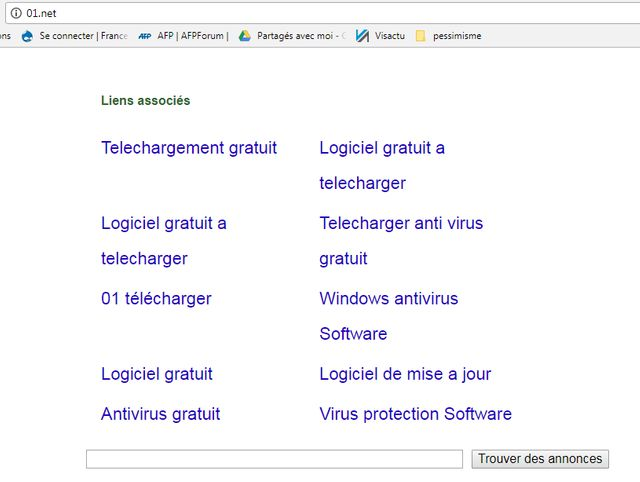 Capture d'écran du site 01.net. Ce jeudi midi – plusieurs heures après le début de la panne – le site 01/net était encore inaccessible.