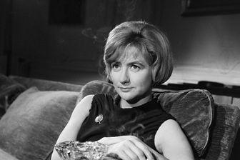 """Françoise Sagan lors du tournage de """"Portrait souvenir : Stendhal"""""""