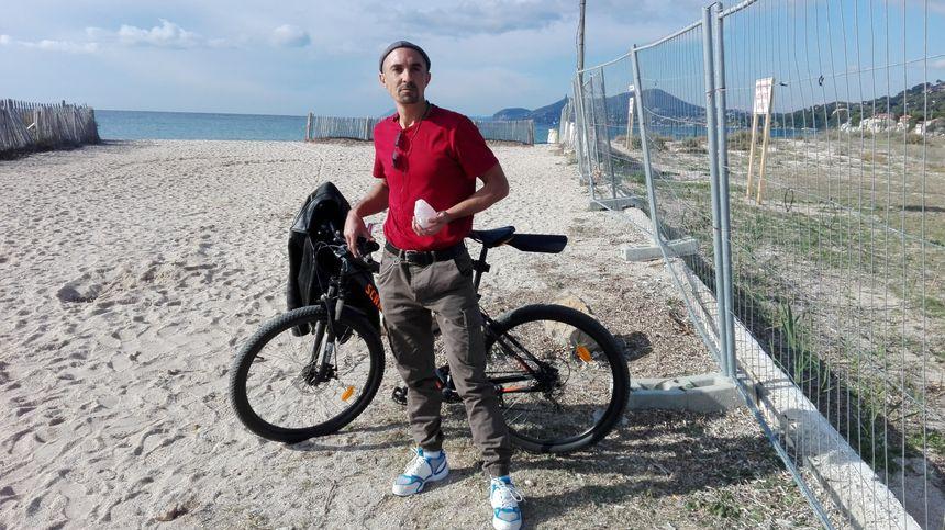 Le cycliste qui a sauvé Fanny Bruno sur son vélo