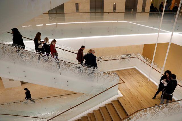 Les halls du musée de la bible qui ouvre le 17 novembre 2017 à Washington