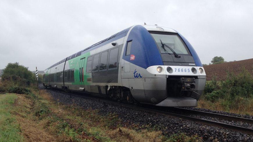 Un TER Auvergne approche de Brioude