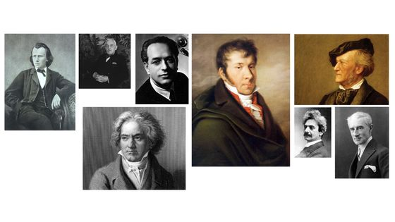 Les compositeurs de l'émission d'aujourd'hui : Johannes Brahms, Florent Schmitt, Gaspar Cassadó, Ludwig van Beethoven, Johann Nepomuk Hummel, Richard Wagner, David Popper, Maurice Ravel
