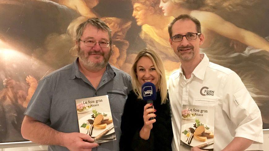 Daniel Zenner, Sandrine Kauffer et Julien Binz, autour du foie gras...