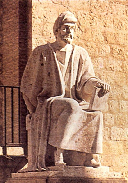 Statue d'Averroès à Cordoue, sa ville natale. Par Pablo Yusti Conejo, 1967.