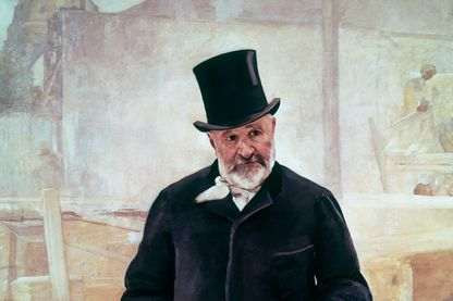 Portrait de Jean-Charles Adolphe Alphand. Huile sur toile d'Alfred Philippe Roll. Paris, Petit Palais, Musée des Beaux-Arts.