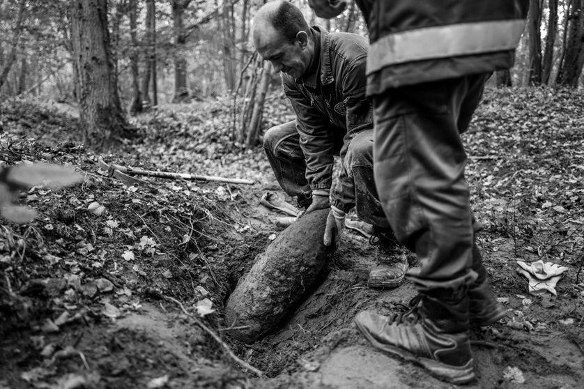Le service de déminage de la protection civile du département de l'Aisne intervient 700 fois par ans, soit deux fois par jour. On pense qu'on continuera à trouver des munitions non-explosées pendant encore 500 ans.