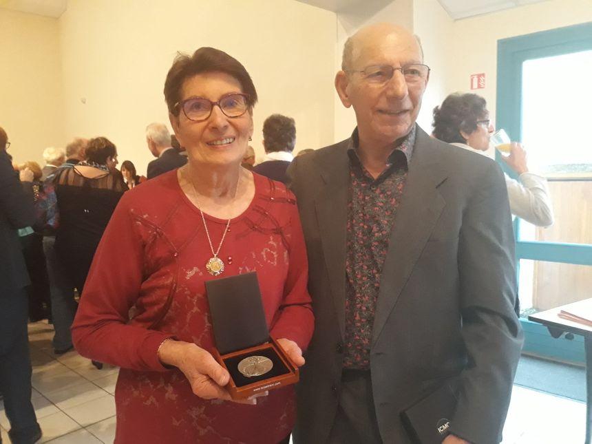 Yvette et Daniel, à l'occasion de la cérémonie pour les Justes parmi les Nations à Soubrebost