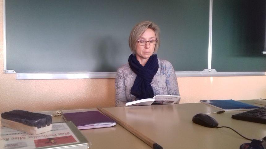 Fabienne Berthelot, prof de français, à l'initiative de ce quart d'heure de lecture
