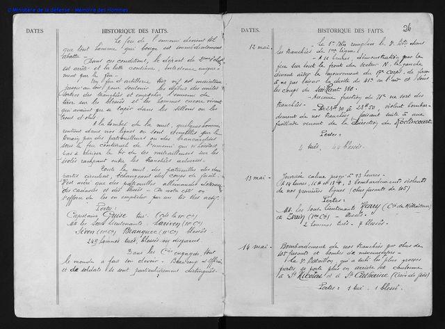 """Autre document de """"Mémoire des Hommes"""", nouvelle page d'archives du """"Journal de marche du 71e régiment d'infanterie"""" dont Ange Dreneuc faisait partie"""