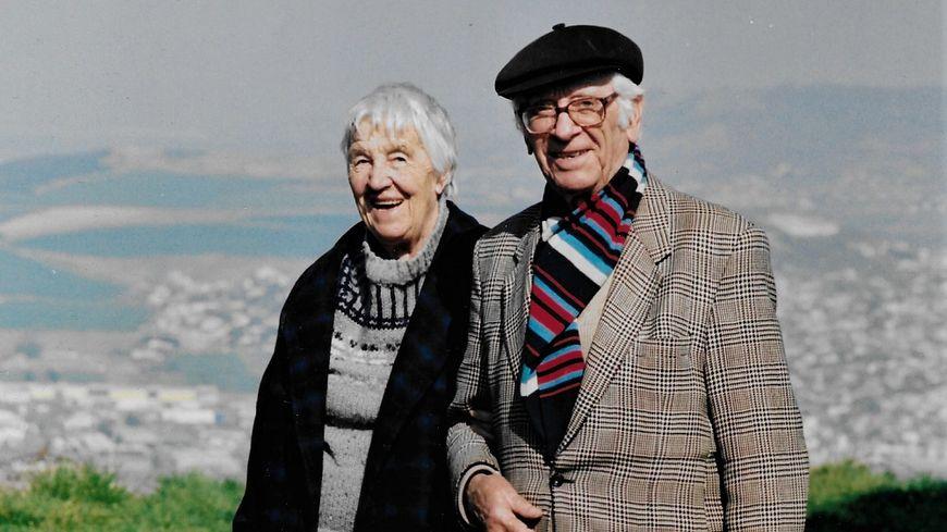 Jean Anglade et son épouse Marie Ombret décédée en 2002