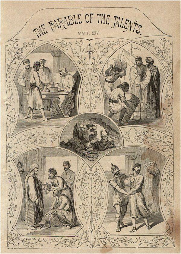 """Perumpamaan talenta"", John S. C. Abbott dan Jacob Abbott, 1878"