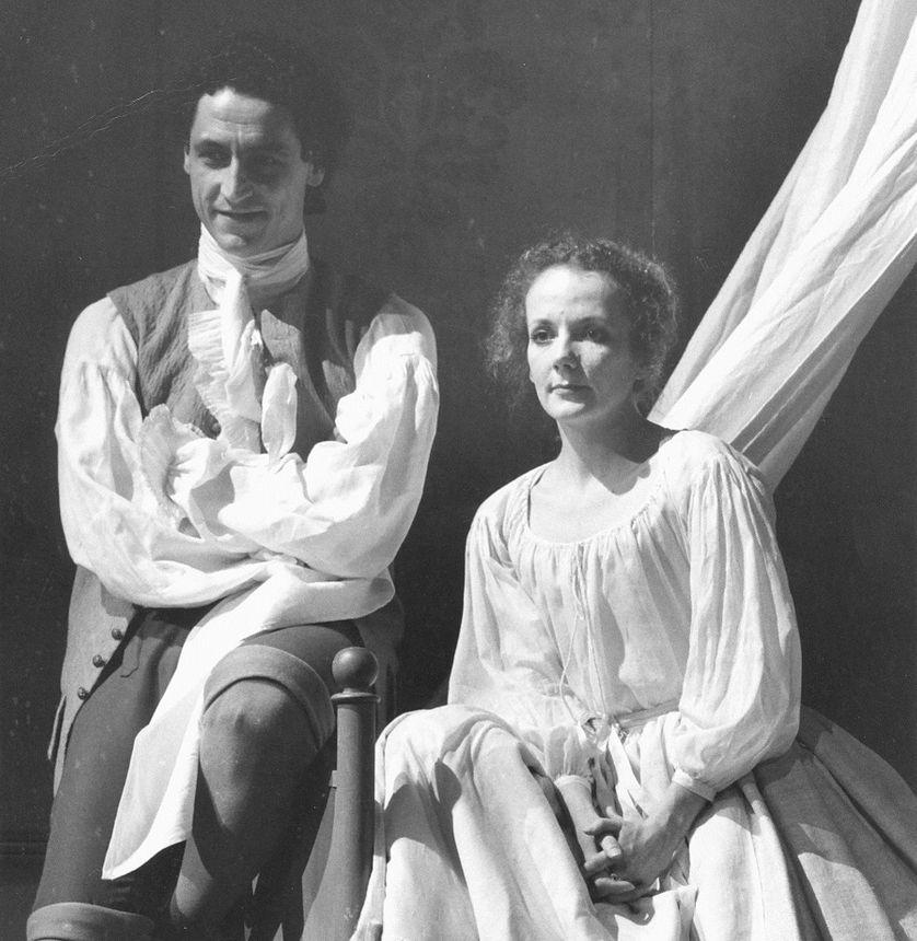 La Locandiera, 1981, avec Jean-Luc Boutté et Catherine Hiegel , mise en scène Jacques Lassalle, La Comédie-Française.
