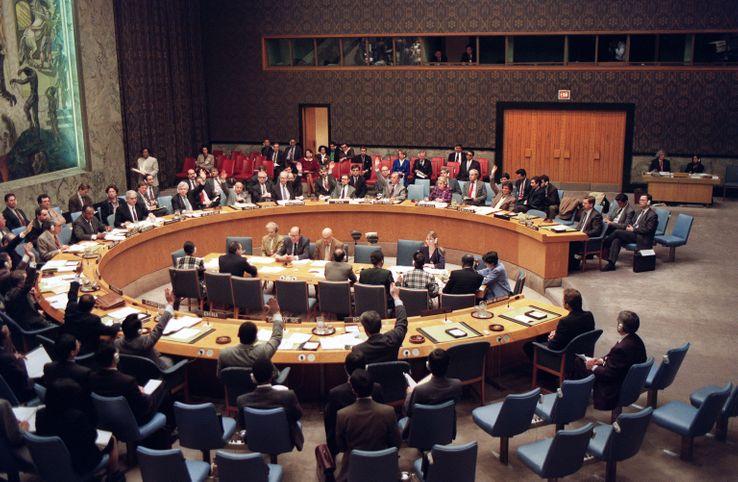 Vote pour la création du TPIY à l'ONU, en février 1993